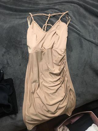 BNWTShowpo AngelBiba Beige Brown Nude Bodycon Dress
