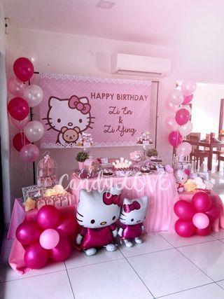 Hello Kitty in Pink Dessert Table
