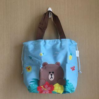 Line Friends x Hung Fook Tong Tote Bag 熊大索袋手挽袋