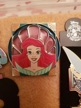 Ariel disney pin mermaid小魚仙徽章襟章