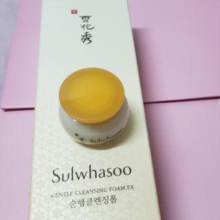 雪花秀順行潔顏泡沫Gentle Cleansing Foam+ 滋盈肌本緊緻面霜 Essential Firming Cream EX
