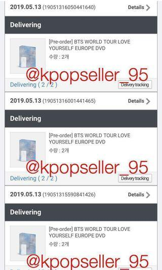 [CONFIRMED NON-PROFIT PRICE + SHARING WITH EMS] BTS LOVE YOURSELF 'EUROPE' DVD