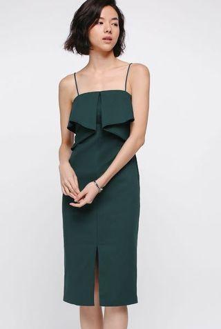Love Bonito Miranna Ruffle Midi Dress
