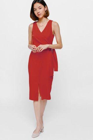 Love Bonito Audelia Side Sash Midi Dress
