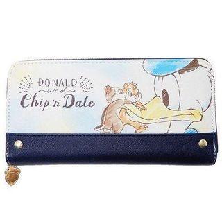 💓生日預訂💓 迪士尼 Chip&Dale 松鼠 大鼻 鋼牙 唐老鴨 Donald Duck 長款 銀包 送禮 自用