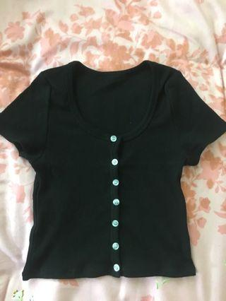 brandy melville zelly button up top