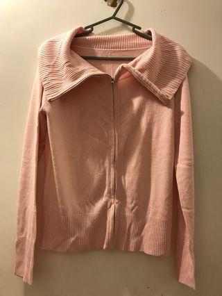 Pink Jacket wool knitwear
