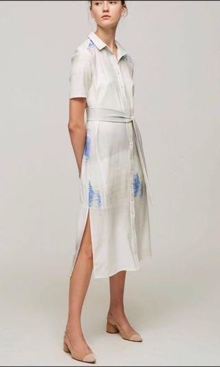 Our Second Nature Dune Button Midi Dress