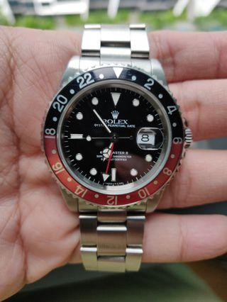 🚚 FULL SET Rolex GMT 16710 Tritium Coke
