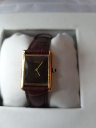 卡地亞925包金上鏈手錶