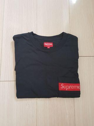 Supreme Navy Mesh PocketTee ss19 M size 99%new