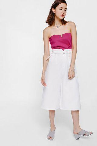 Love Bonito Camarre Belted Paperbag Culottes