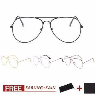 Kacamata Classic Frame / Kacamata Bening Wanita