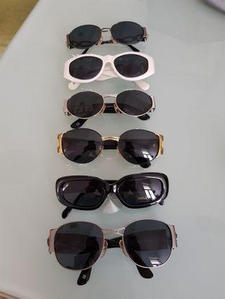 """古董精品眼鏡太陽眼鏡大特賣 Versace   """"vintage"""" 價格非常漂亮  墨鏡全數2880 不二價 共6款 白色售出"""