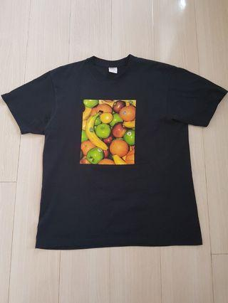 Supreme Navy Fruit Tee M size 99%new