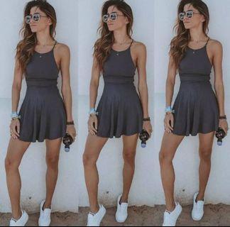 Grey Casual Mini Dress