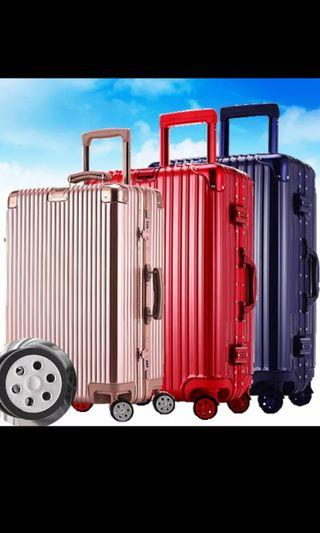 """ITOH Rose Gold Vintage-Inspired Alloy Luggage 26"""""""