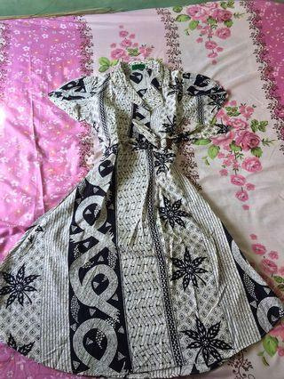 Dress Batik Black n White