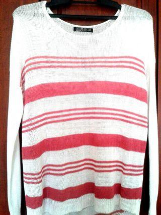 Cotton Long Red Long Sleeve Top #JuneToGo #CarousellFaster