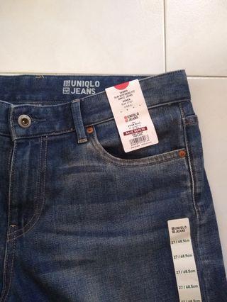 Uniglo Ladies Slim Jeans Waist 27