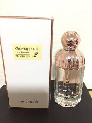 Brand new in box Champagne Life Lady Perfume EDT 50ml