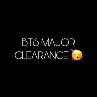 BTS MAJOR CLEARANCE