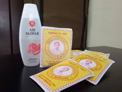 Paket Bedak dingin & Air Mawar Viva