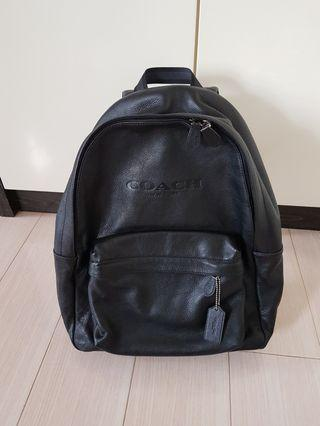 Coach Mens Leather Backpack 99%new