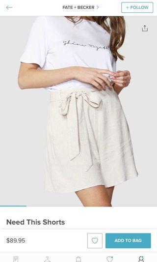 Oat colour shorts sz 14/16 NEVER BEEN WORN