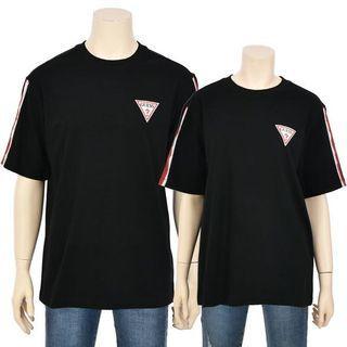Guess Tee Shoulder Tape Mini Logo T Shirt NJ2K0373
