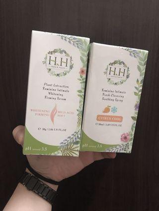 H&H私密保養美白緊緻凝露/私密舒緩噴霧