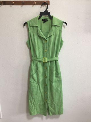 Green Trench Dress