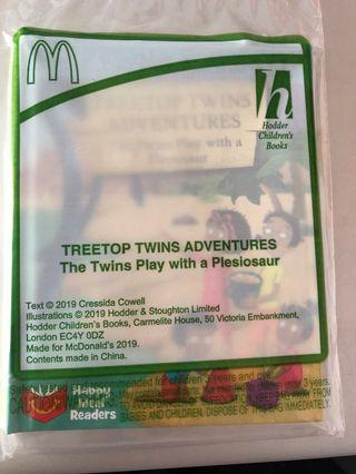 🚚 McDonald's Happy Meal- treetop twins adventure - The twins play with a Plesiosaur