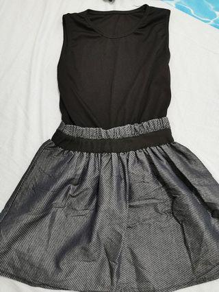 Black top skirt dress