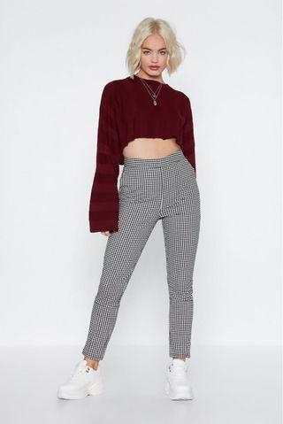 bnwt nastygal make it fair gingham trousers pants #AMPLIFYJULY35