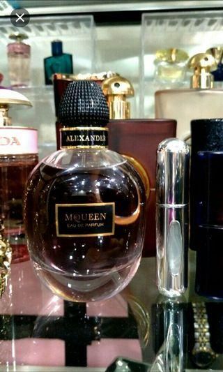 FREE POST. Alexander McQueen for her in 5ml decant sample size Atomizer Bottle