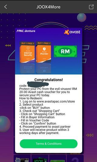 AVAST RM20 VOUCHER
