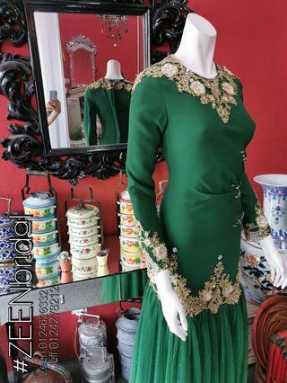 Baju Nikah Emerald Green untuk sewa L/P