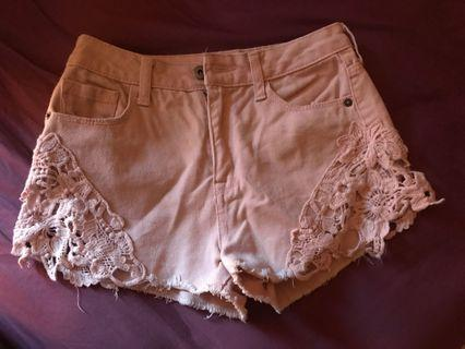 Forever21 lace side shorts