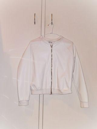 White Bomber Jacket (Made in Italy)