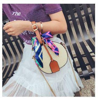 [ Round Bag ] Bohemia Style Rattan Round Sling Bag #CarousellBetter