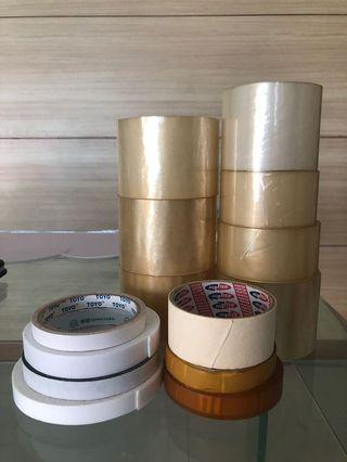🚚 Used double sided tapes, foam tapes, tapes for shifting/moving