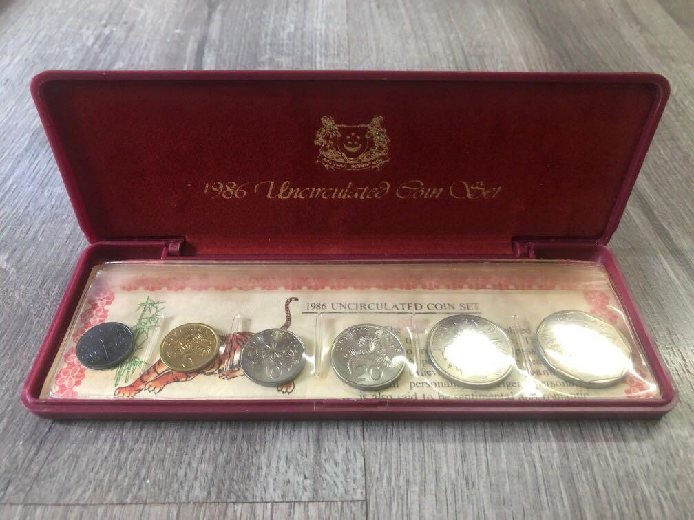 1986 Year of the Tiger Uncirculated Coin Set - Singapore