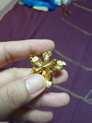 22K Gold Plated Brooch + Pendant