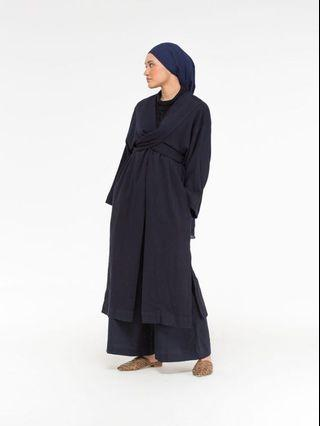 Anaabu Lilit Kimono Outer (Dark Blue)