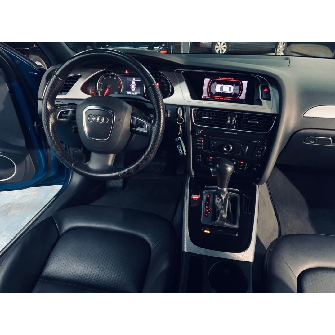 稀有正2010年式小改款Audi A4 2.0TFSI 現量頂級黑頂棚特仕版