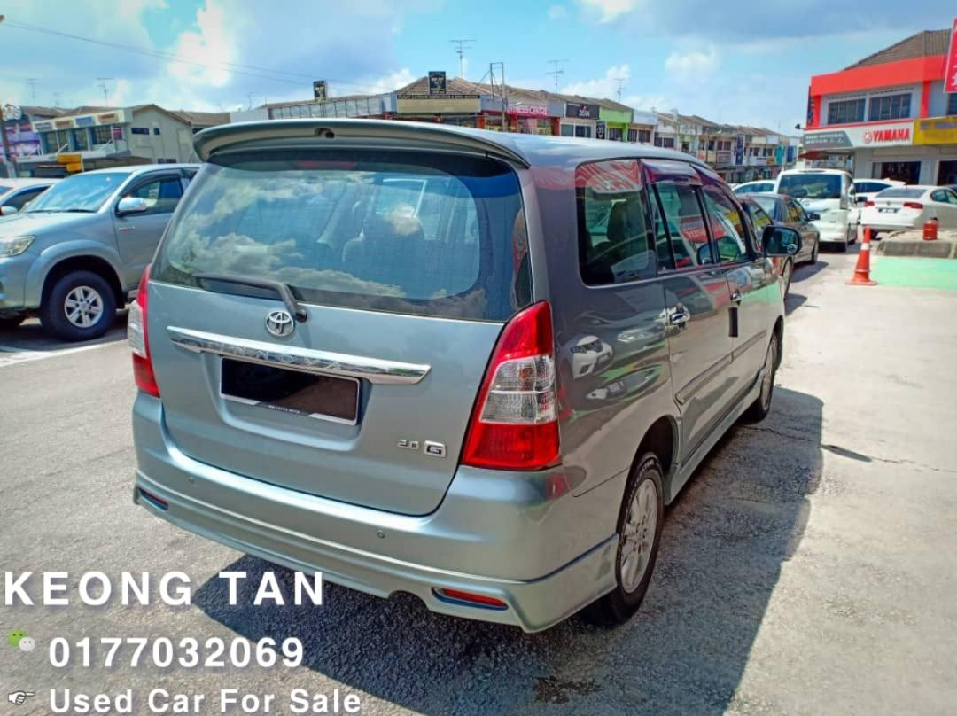 2012TH🚘TOYOTA INNOVA 2.0AT G SPEC Full Bodykit Cash🎉OfferPrice💲Rm49,800 Only‼LowestPrice InJB🎉Call📲 Keong🤗