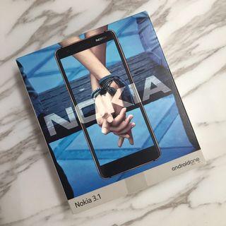 Nokia3.1 TA-1049/白色4G空機