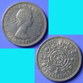 Coin UK Great Britain 2 Shillings Florin dated 1965 km 906