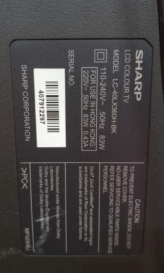 Sharp 40~46寸電視